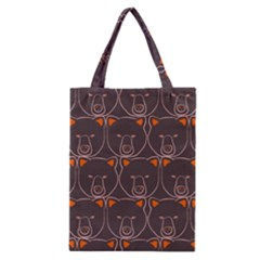 Bears Pattern Classic Tote Bag by Nexatart