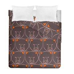 Bears Pattern Duvet Cover Double Side (full/ Double Size)