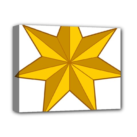 Star Yellow Blue Deluxe Canvas 14  X 11  by Mariart