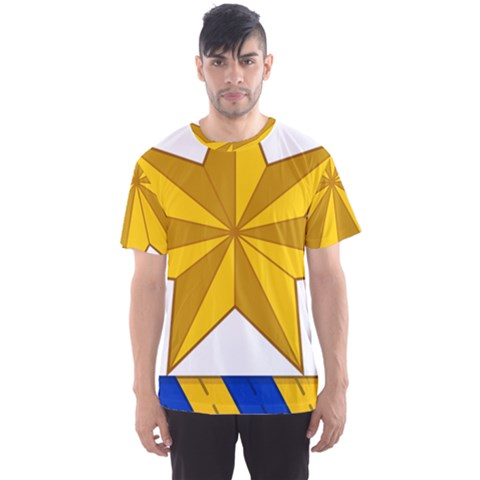 Star Yellow Blue Men s Sport Mesh Tee by Mariart
