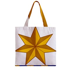 Star Yellow Blue Zipper Grocery Tote Bag by Mariart