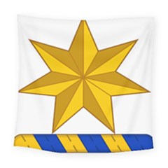 Star Yellow Blue Square Tapestry (large) by Mariart