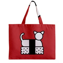 Sushi Cat Japanese Food Zipper Mini Tote Bag by Mariart