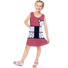 Sushi Cat Japanese Food Kids  Tunic Dress