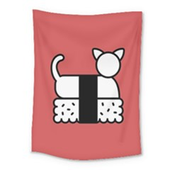 Sushi Cat Japanese Food Medium Tapestry by Mariart