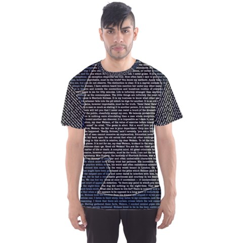 Sherlock Quotes Men s Sport Mesh Tee by Mariart