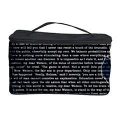 Sherlock Quotes Cosmetic Storage Case by Mariart