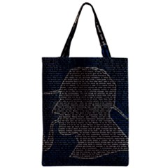 Sherlock Quotes Zipper Classic Tote Bag by Mariart