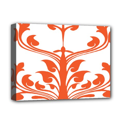 Tree Leaf Flower Orange Sexy Star Deluxe Canvas 16  X 12   by Mariart