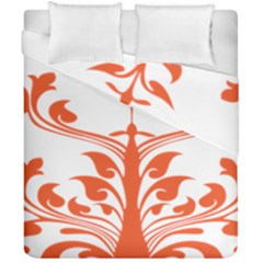 Tree Leaf Flower Orange Sexy Star Duvet Cover Double Side (california King Size) by Mariart