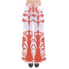 Tree Leaf Flower Orange Sexy Star Pants by Mariart