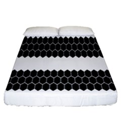 Wasp Bee Hive Black Animals Fitted Sheet (queen Size) by Mariart