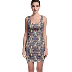 Multicolored Modern Geometric Pattern Sleeveless Bodycon Dress by dflcprintsclothing