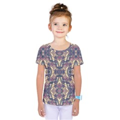 Multicolored Modern Geometric Pattern Kids  One Piece Tee