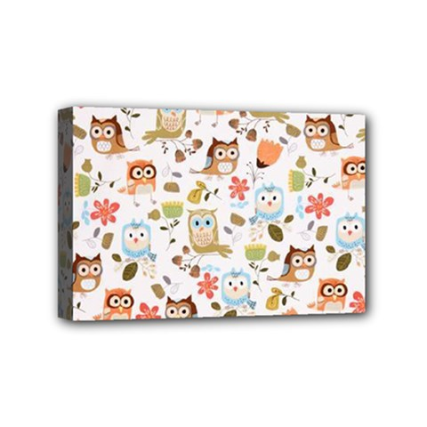 Cute Owl Mini Canvas 6  X 4  by Nexatart
