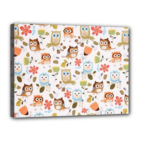 Cute Owl Canvas 16  X 12  by Nexatart