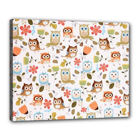 Cute Owl Canvas 20  X 16  by Nexatart