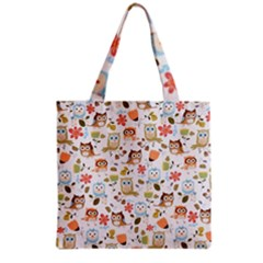 Cute Owl Grocery Tote Bag by Nexatart