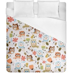 Cute Owl Duvet Cover (california King Size) by Nexatart
