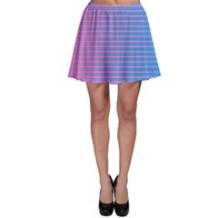 Turquoise Pink Stripe Light Blue Skater Skirt by Mariart