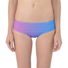 Turquoise Pink Stripe Light Blue Classic Bikini Bottoms by Mariart