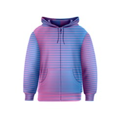 Turquoise Pink Stripe Light Blue Kids  Zipper Hoodie by Mariart