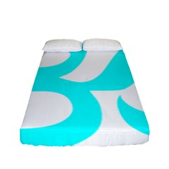 Hindu Om Symbol (cyan) Fitted Sheet (full/ Double Size) by abbeyz71