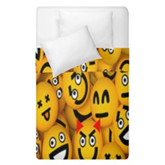 Smileys Linus Face Mask Cute Yellow Duvet Cover Double Side (single Size) by Mariart