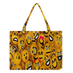 Smileys Linus Face Mask Cute Yellow Medium Tote Bag by Mariart