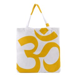 Hindu Om Symbol (gold) Grocery Tote Bag by abbeyz71