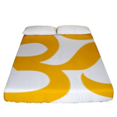 Hindu Om Symbol (gold) Fitted Sheet (king Size) by abbeyz71