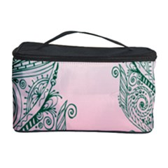 Toggle The Widget Bar Leaf Green Pink Cosmetic Storage Case by Mariart