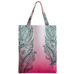 Toggle The Widget Bar Leaf Green Pink Zipper Classic Tote Bag by Mariart