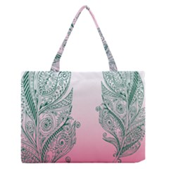 Toggle The Widget Bar Leaf Green Pink Medium Zipper Tote Bag by Mariart