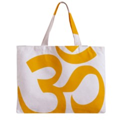 Hindu Gold Symbol (gold) Medium Zipper Tote Bag by abbeyz71