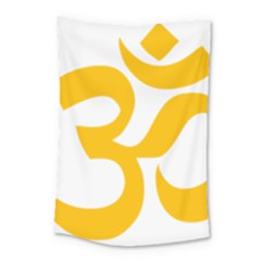 Hindu Gold Symbol (gold) Small Tapestry by abbeyz71
