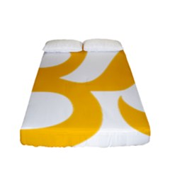Aum Om Gold Fitted Sheet (full/ Double Size) by abbeyz71