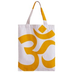 Aum Om Gold Zipper Classic Tote Bag by abbeyz71