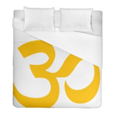 Aum Om Gold Duvet Cover (full/ Double Size) by abbeyz71
