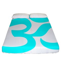 Aum Om Cyan Fitted Sheet (california King Size) by abbeyz71