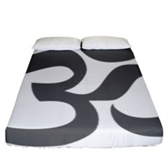 Hindu Om Symbol (dark Gray)  Fitted Sheet (california King Size) by abbeyz71