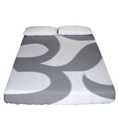 Hindu Om Symbol (light Gray) Fitted Sheet (king Size) by abbeyz71