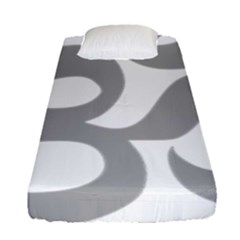 Hindu Om Symbol (light Gray) Fitted Sheet (single Size) by abbeyz71