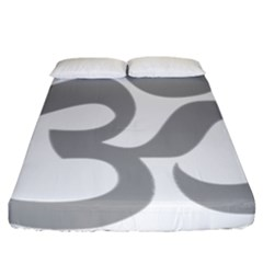 Hindu Om Symbol (light Gray) Fitted Sheet (california King Size) by abbeyz71