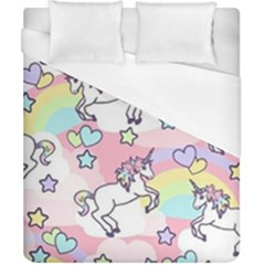 Unicorn Rainbow Duvet Cover (california King Size) by Nexatart