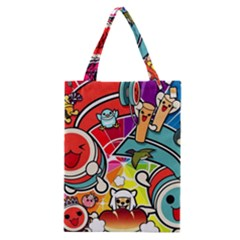 Cute Doodles Wallpaper Background Classic Tote Bag