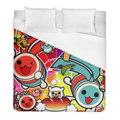 Cute Doodles Wallpaper Background Duvet Cover (full/ Double Size) by Nexatart