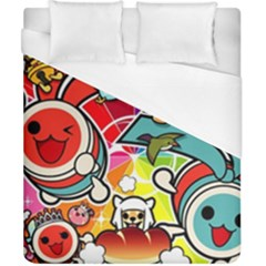 Cute Doodles Wallpaper Background Duvet Cover (california King Size)