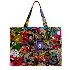 Hipster Wallpaper Pattern Zipper Mini Tote Bag by Nexatart