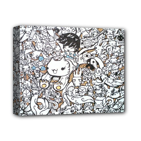 Cute Doodles Deluxe Canvas 14  X 11  by Nexatart